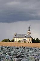 Faehrbrueck Augustinian abbey near Wuerzburg, Bavaria, Germany, Europe