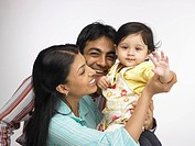 Indian parent with baby girl MR702O,702A,702L