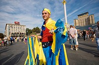 Ukraine, Kiev, Maidan Nezalezhnosti, celebration of the Ucrainian indipendence