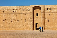 Desert Castle of Al-Kharaneh, Jordan, Middle East.