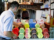 Boxes of Turkish Delights, Haci Bekir shop, Istanbul, Turkey