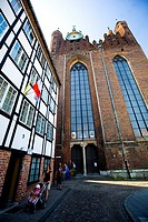 Gdansk church at the city centre, Poland