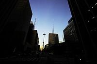 Urban city, Avenue Paulista, São Paulo, Brazil