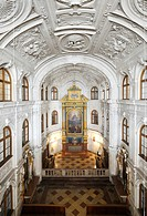 Court chapel, Muenchner Residenz royal palace, home of the Wittelsbach regents until 1918, Munich, Bavaria, Germany, Europe