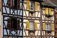 Alsace wine route Colmar France 'Little Venice' area timbered houses