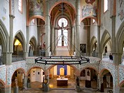 Interior of the Niedermuenster church, old town of Regensburg, UNESCO World Heritage Site, Bavaria, Germany, Europe