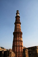 Qutub Minar is the tallest brick minaret in the world at 72 5 meters with 376 steps_was built in 1193 by Muslim Sultan Qutub_ud_din Albak to commemora...