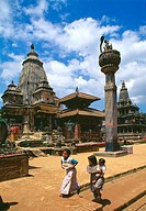 Temple at Durbar Square of Patan  Lalitpur  Kathmandu  UNESCO World Heritage Site  Nepal  Asia
