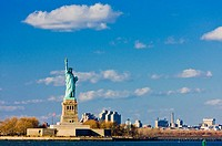 Liberty Island and Statue of Liberty, New York, USA