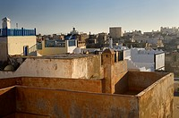 Rooftops of houses in the Essaouira Medina Morocco