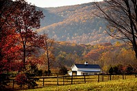 Autumn colors and barn Virginia