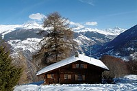 Chalet, Les Masses, Heremence, Val d´Heremence, District d´Herens, Ering, Valais, Switzerland, Alps, Europe