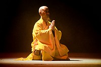 Monk from the Shaolin monastery, performance in Berlin, Germany, Europe