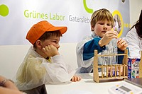 Children at the booth of the Federal Ministry for Education and Research, Green Week 2010 in Berlin, Germany, Europe