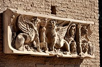 Relief with winged dogs, Domus Augustana, Palatine Hill, Rome, Lazio, Italy, Europe