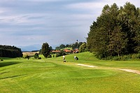 Hoslwang Golf Course, Chiemgau, Upper Bavaria, Germany, Europe