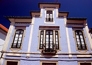 Traditional house with Azulejos in Aveiro Portugal
