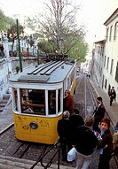 Elevador da Gloria at Lisbon Portugal