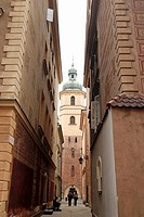St Martins Church in Old Town, Warsaw, Poland