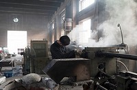 Aluminium foundry, technological industry, Hebei, Province of Hebei, China, Asia