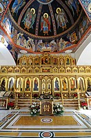 Icons, Russian_Orthodox church, Altea, Costa Blanca, Alicante province, Spain, Europe