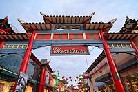Los Angeles Chinatown plaza.