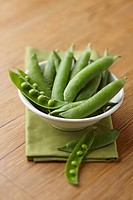 Bowl of snap peas