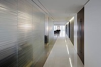 Contemporary office hallway