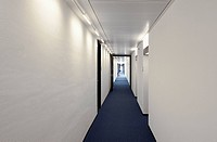 Long office hallway
