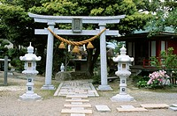 Torii Gate, Shinto Shrine, Wakura, Ishikawa, Japan