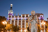 Statue in Plaza Santa Ana, Madrid, Spain (thumbnail)