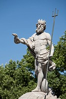 Neptune statue, Plaza Canovas, Madrid, Spain