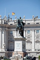 Statue in front of the Palacio Real, Madrid, Spain