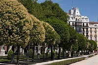 Gardens of Plaza de Oriente, Madrid, Spain