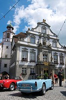 Town hall in Wangen im Allgaeu, Baden-Wuerttemberg, Germany, Europe