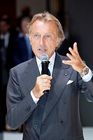 Luca di Montezemolo, chairman of the Ferrari group board, president of the Italian Fiat group, at the 63. Internationale Automobilausstellung Internat...