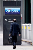 Headquarters of the Citi Bank in the Citigroup Center in Canary Wharf, London, England, United Kingdom, Europe