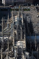 Italy, Lombardy, Milan, the Duomo, aerial view                                                                                                        ...