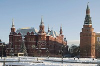 Historical Museum, view from Manezhnaya Square, Moscow, Russia