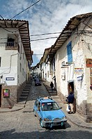 Narrow street in Cusco, Peru, South America