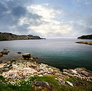 Scenic coastal view of rocky Atlantic shore in Newfoundland, Canada