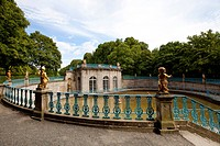 Lust- und Jagdschloss Wilhelmsthal, pleasure and hunting castle, residence of the Landgrave of Hesse-Kassel, built in the rococo style, palace gardens...