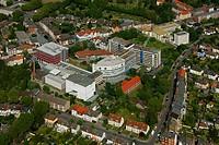 Aerial photo, EVK Evangelisches Krankenhaus Protestant Hospital, Werler Strasse street, Hamm, Ruhrgebiet region, North Rhine-Westphalia, Germany, Euro...
