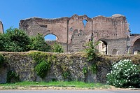 Ruins of the Baths of Caracalla, Rome, Italy, Europe