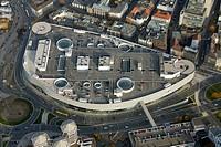 Aerial shot, Karstadt Limbecker Platz, Essen, Ruhr district, North Rhine-Westphalia, Germany, Europe