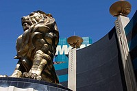 Lion of the MGM Grand hotel in Las Vegas, Nevada, USA