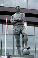 Statue of Bobby Moore at Wembley Stadium, Brent, London, England, United Kingdom, Europe