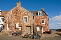 Old fishermen's Houses at Crail East Neuk Fife Scotland