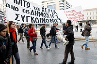 Greek transport workers protest against a public transport sector shakeup that is part of Greece´s cost-cutting reforms to improve public finances