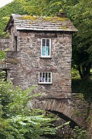 Little house on a bridge in Ambleside, Lake district, England